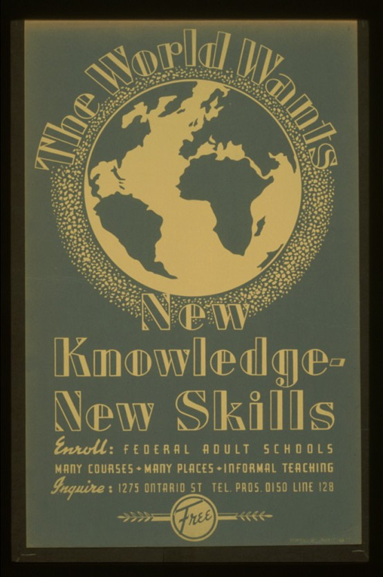 the world wants new knowledge